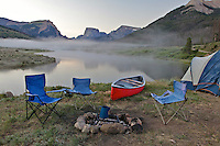 Camping, Green River Lake, Wind River Mountains, Green River, Pinedale, Wyoming