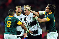 Robert du Preez of the Barbarians takes on the South Africa defence. Killik Cup International match, between the Barbarians and South Africa on November 5, 2016 at Wembley Stadium in London, England. Photo by: Patrick Khachfe / JMP
