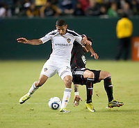 CARSON, CA – SEPTEMBER 18:  LA Galaxy midfielder Sean Franklin (28) during a soccer match at Home Depot Center, September 18, 2010 in Carson California. Final score LA Galaxy 2, DC United 1.