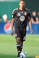 DC United defender Jordan Graye (16).  DC United defeated Chivas USA 3-2 at RFK Stadium, Saturday  May 29, 2010.