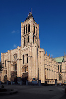 Front facade, Basilica of Saint Denis, 12th century, Saint Denis, Seine Saint Denis, France. Picture by Manuel Cohen
