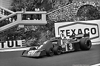 Jody Scheckter drives the Tyrrell P34 Formula 1 car during the 1976 Monaco Grand Prix.