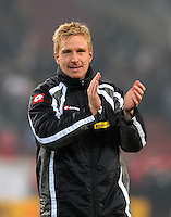 FUSSBALL   1. BUNDESLIGA  SAISON 2011/2012   19. Spieltag   29.01.2012 VfB Stuttgart - Borussia Moenchengladbach    Mike Hanke (Borussia Moenchengladbach)