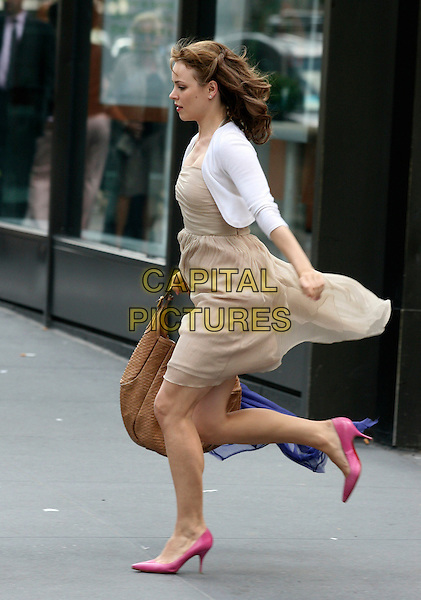 RACHEL McADAMS  pictured on the set of  quot Morning Glory quot  filming near    Rachel Mcadams Side Profile