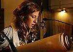 Bat Mitzvah Gal in Temple.Stephen Wise Synagogue.Manhattan.April 2010..