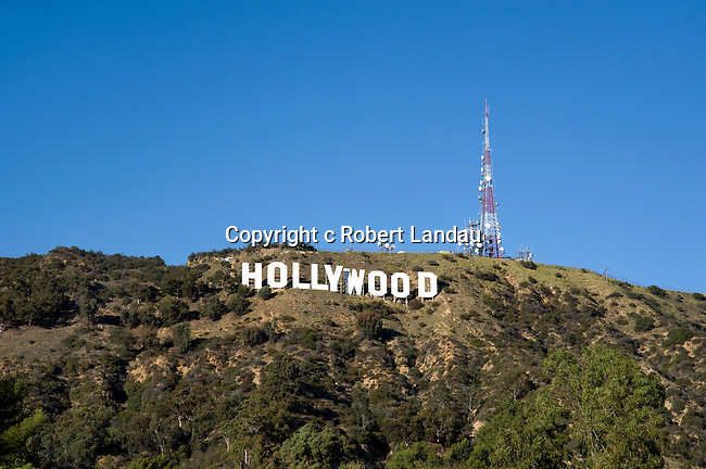 The famous Hollywood Sign in the Hollywood Hills