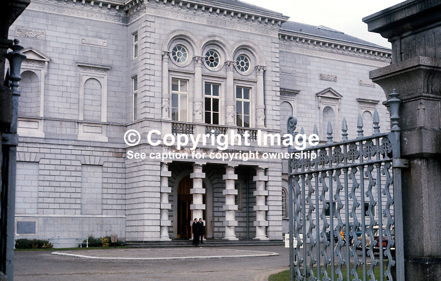Facade, National Gallery, Dublin, Rep of Ireland, 197303250070.<br /> <br /> Copyright Image from Victor Patterson, 54 Dorchester Park, Belfast, UK, BT9 6RJ<br /> <br /> t1: +44 28 9066 1296 (from Rep of Ireland 048 9066 1296)<br /> t2: +44 28 9002 2446 (from Rep of Ireland 048 9002 2446)<br /> m: +44 7802 353836<br /> <br /> e1: victorpatterson@me.com<br /> e2: victorpatterson@gmail.com<br /> <br /> The use of my copyright images is subject to my Terms &amp; Conditions.<br /> <br /> It is IMPORTANT that you familiarise yourself with them. They are available on my website at www.victorpatterson.com.<br /> <br /> None of my copyright images may be used on a website unless they are visibly watermarked, i.e. &copy; Victor Patterson within the body of the visible image. Metadata denoting my copyright must NOT be deleted. <br /> <br /> Web use (maximum size - 300 kb) is extra at currently recommended NUJ rates.