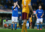 St Johnstone v Motherwell....31.10.14   SPFL<br /> James McFadden applads the fans as he is subbed<br /> Picture by Graeme Hart.<br /> Copyright Perthshire Picture Agency<br /> Tel: 01738 623350  Mobile: 07990 594431