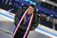 SCHAATSEN: HEERENVEEN: 05-02-2017, KPN NK Junioren, Junioren B, kampioen Jesse Stam, ©foto Martin de Jong
