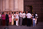 People line up for entrance to mass on the night before easter at La Catedral de Lima on Saturday, Apr. 11, 2009 in Lima, Peru.