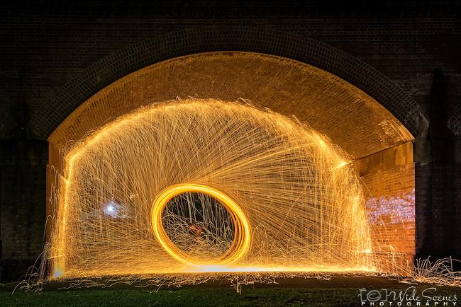 Fire Spinning in Glebe Park, Sydney Australia