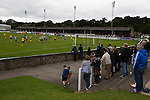 Elgin City 3 Edinburgh City 0, 13/08/2016. Borough Briggs, Scottish League Two. Home supporters watching the first-half action at Borough Briggs, home to Elgin City, on the day they played SPFL2 newcomers Edinburgh City (in yellow). Elgin City were a former Highland League club who were elected to the Scottish League in 2000, whereas Edinburgh City became the first club to gain promotion to the League by winning the Lowland League title and subsequent play-off matches in 2015-16. This match, Edinburgh City's first away Scottish League match since 1949, ended in a 3-0 defeat, watched by a crowd of 610. Photo by Colin McPherson.