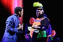 London, UK. 28.04.2015. EVERYMAN, adapted by Carol Ann Duffy and directed by Rufus Norris, opens in the Olivier at the National Theatre. Design by Ian MacNeill with costumes by Nicky Gillibrand. Chiwetel Ejiofor is in the title role of Everyman. Photograph © Jane Hobson.