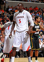 CHARLOTTESVILLE, VA- DECEMBER 6: Assane Sene #5 of the Virginia Cavaliers during the game on December 6, 2011 against the George Mason Patriots at the John Paul Jones Arena in Charlottesville, Virginia. Virginia defeated George Mason 68-48. (Photo by Andrew Shurtleff/Getty Images) *** Local Caption *** Assane Sene