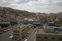 A general view at the town of Wadi Musa in southern Jordan, may 13, 2013. Photo by Oren Nahshon