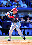 7 March 2010: Washington Nationals' shortstop Ian Desmond at bat during a Spring Training game against the New York Mets at Tradition Field in Port St. Lucie, Florida. The Mets edged out the Nationals 6-5 in Grapefruit League pre-season play. Mandatory Credit: Ed Wolfstein Photo