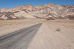 Death Valley National Park, California; the road leading to the entrance to Artist Drive along Badwater road in the park