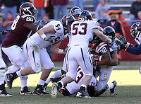 Nov 27, 2010; Charlottesville, VA, USA;  Virginia Cavaliers defensive end Matt Conrath (94) and Virginia Cavaliers linebacker Steve Greer (53) during the game at Lane Stadium. Virginia Tech won 37-7. Mandatory Credit: Andrew Shurtleff-