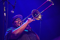 LAS VEGAS, NV - September 28, 2016: ***HOUSE COVERAGE*** The Soul Rebels Sound System Ft. Talib Kweli at Brooklyn Bowl in Las vegas, NV on September 28, 2016. Credit: GDP Photos/ MediaPunch