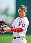 6 March 2011: Washington Nationals' outfielder Bryce Harper in action during a Spring Training game against the Atlanta Braves at Space Coast Stadium in Viera, Florida. The Braves shut out the Nationals 5-0 in Grapefruit League action. Mandatory Credit: Ed Wolfstein Photo