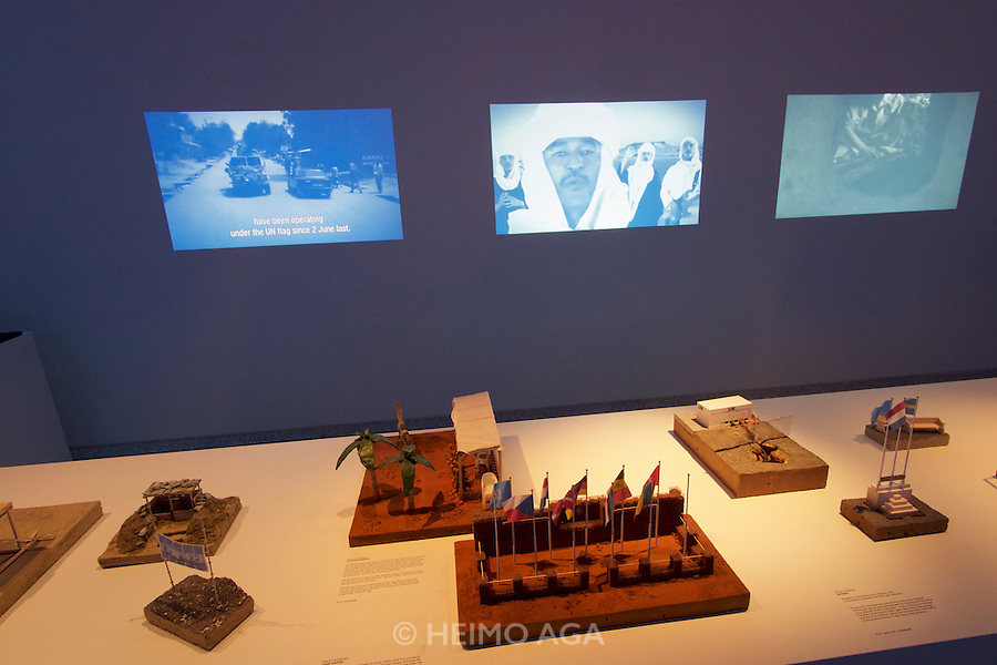 Venice, Italy - 15th Architecture Biennale 2016, &quot;Reporting from the Front&quot;.<br /> Giardini.<br /> Netherlands Pavilion.<br /> BLUE: Architecture of U.N. Peacekeeping Missions.