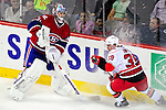 31 March 2010: Montreal Canadiens' goaltender Carey Price wanders from the crease to control the play during the first period during against the Carolina Hurricanes at the Bell Centre in Montreal, Quebec, Canada. The Hurricanes defeated the Canadiens 2-1. Mandatory Credit: Ed Wolfstein Photo