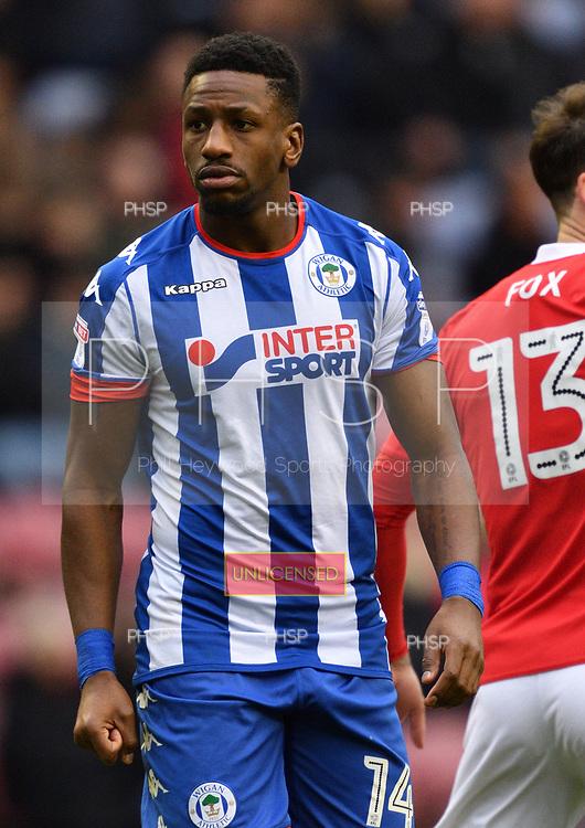 25/02/2017 Sky Bet Championship Wigan Athletic v Nottingham Forest<br /> <br /> Omar Bogle, Wigan Athletic FC