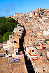 Roof top view of &Eacute;rice, Erice, Sicily stock photos.