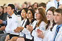 From left, Homer Chiang, Lillian Chang, Ayse Celebioglu, Alexandra Brown, Meghan Breen, Nicholas Bonenfant. Class of 2017 White Coat Ceremony.