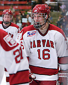 Alex Fallstrom (Harvard - 16) - The Harvard University Crimson defeated the visiting Colgate University Raiders 6-2 (2 EN) on Friday, January 28, 2011, at Bright Hockey Center in Cambridge, Massachusetts.