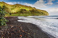 A sunny day at Honomanu Bay, on the road to Hana, Maui.