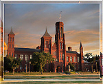 The Smithsonian Castle in 3D at Sunset, 3D Lenticular, Washington DC