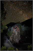 Much like my Colorado image of the Milky Way over the Maroon Bells, this image was taken while camped out at the Crystal Mill. While storms battered the area during the day, they moved off by evening, allowing me to capture this image. I used a headlamp to light up the foreground of the Crystal Mill. It took several attempts before finally getting the lighting as I wanted it.