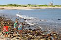 BLOCK ISLAND, RI - Sept. 3, 2009--The stony beach leading to North Light. CREDIT: JODI HILTON FOR THE NEW YORK TIMES