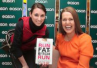 *** NO FEE PIC***.20/04/2012.Author Ruth Field signing copies of Run Fat B!tch Run for Ramona Lasch from Clare Hall.at Eason OConnell Street, Dublin..Photo: Gareth Chaney Collins