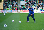 St Johnstone v Celtic.....12.04.11.Saints groundsman Chris Smith clears the pitch of balls.Picture by Graeme Hart..Copyright Perthshire Picture Agency.Tel: 01738 623350  Mobile: 07990 594431