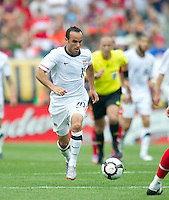 USA's Landon Donovan dribbles the ball .during an international friendly tune up match against Turkey for the 2010 World Cup, at Lincoln Financial Field, in Philadelphia, PA, Saturday, May 29, 2010. USA defeated Turkey 2-1.