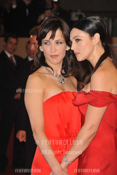 "Sophie Marceau & Monica Bellucci at the premiere for their new movie ""Don't Look Back"" which is in competition at the 62nd Festival de Cannes..May 16, 2009  Cannes, France.Picture: Paul Smith / Featureflash"