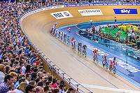 Picture by Alex Whitehead/SWpix.com - 05/03/2016 - Cycling - 2016 UCI Track Cycling World Championships, Day 4 - Lee Valley VeloPark, London, England - A General View (GV) during the Men's Omnium Points Race.