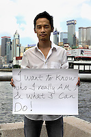 David Cheung - 25 Yrs.<br /> Post graduate in international trading.<br /> Hong Kong.<br /> <br /> 'I want to know who I really am &amp; what I can do'.
