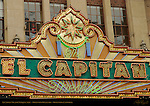 El Capitan Theater Marquee 1926, Hollywood Boulevard, Hollywood, California
