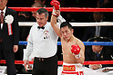 Takahiro Aoh (JPN), APRIL 6, 2012 - Boxing : Takahiro Aoh of Japan  celebrates after wining during the WBC Super Feather weight title bout at Tokyo international forum in Tokyo, Japan. Takahiro Aoh won the fight on points after12th rounds. (Photo by Yusuke Nakanishi/AFLO) [1090]