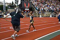 EUGENE, OR--Ethopia's Gelete Burka wins the women's 1500m with a new Pre Classic record of 4:00:48 at the Steve Prefontaine Classic, Hayward Field, Eugene, OR. SUNDAY, JUNE 10, 2007. PHOTO © 2007 DON FERIA