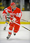 9 February 2008: Boston University Terriers' defenseman Amanda Shaw, a Junior from St. Thomas, Ontario, in action against the University of Vermont Catamounts at Gutterson Fieldhouse in Burlington, Vermont. The Terriers shut out the Catamounts 2-0 in the Hockey East matchup...Mandatory Photo Credit: Ed Wolfstein Photo
