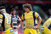 Donncha O'Callaghan of Worcester Warriors looks on during a break in play. Aviva Premiership match, between Leicester Tigers and Worcester Warriors on October 8, 2016 at Welford Road in Leicester, England. Photo by: Patrick Khachfe / JMP