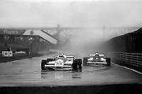 MONTREAL, CANADA - SEPTEMBER 27: Mario Andretti drives the Alfa Romeo 179D 02/Alfa 1260 ahead of Riccardo Patrese in the Arrows A3 5/Ford Cosworth DFV during the 1981 Canadian Grand Prix FIA Formula One World Championship race at the Circuit Île Notre-Dame temporary circuit in Montreal, Canada, on September 27, 1981.
