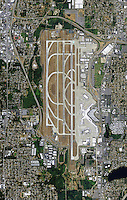 aerial photo map of Seattle Tacoma International Airport Sea-Tac SEA
