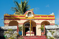 One of the very earliest Hindu temple on the island - the Murugan temple at Clemencia.