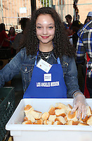 Los Angeles, CA - NOVEMBER 23: Kayla Maisonet, At Los Angeles Mission Thanksgiving Meal For The Homeless At Los Angeles Mission, California on November 23, 2016. Credit: Faye Sadou/MediaPunch