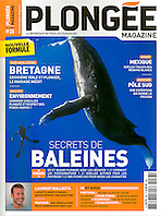 Plongée Magazine, May - June 2011, cover use, France, Image ID: Humpback-Whale-0370